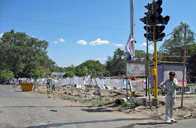 outdoor laundry at Pune
