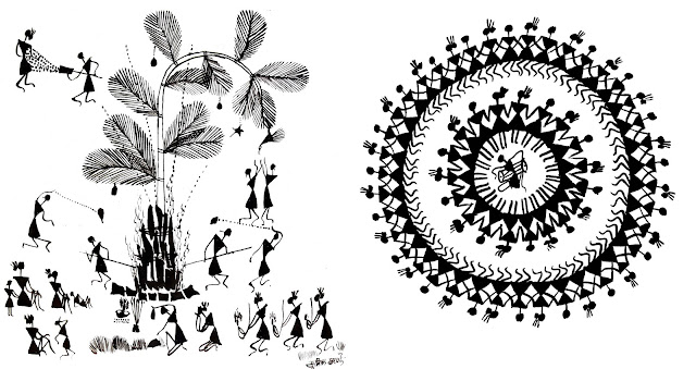 warli art village life and dance