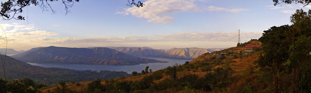 panchgani scenery of lake and hills