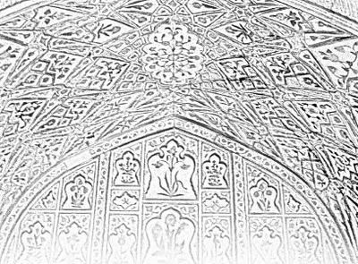 sketch of ceiling design