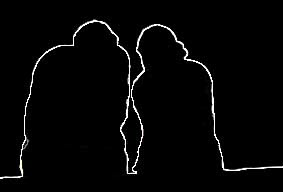 couple silhouette outline