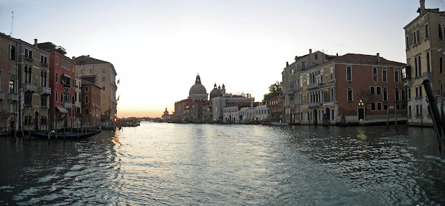 grand canal with church