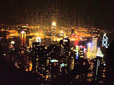 Hong Kong buildings illustration