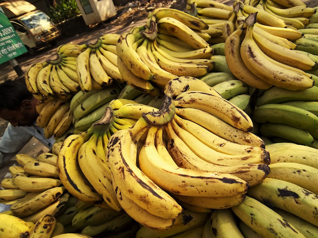 bananas on a hand-cart