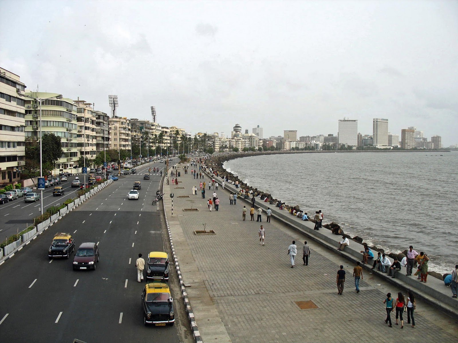 stock pictures marine drive mumbai   photographs and sketches