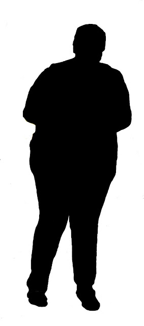 obese person silhoutte