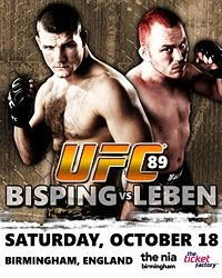UFC 89 Bisping vs Leben Live Streaming