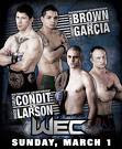 Watch WEC 39 Brown vs Garcia Live