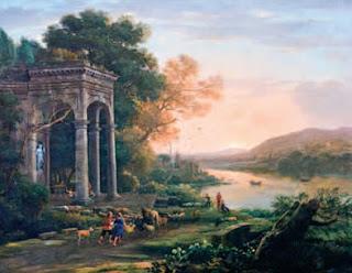 Paisaje con el templo de Baco - National Gallery of Canada, Ottawa