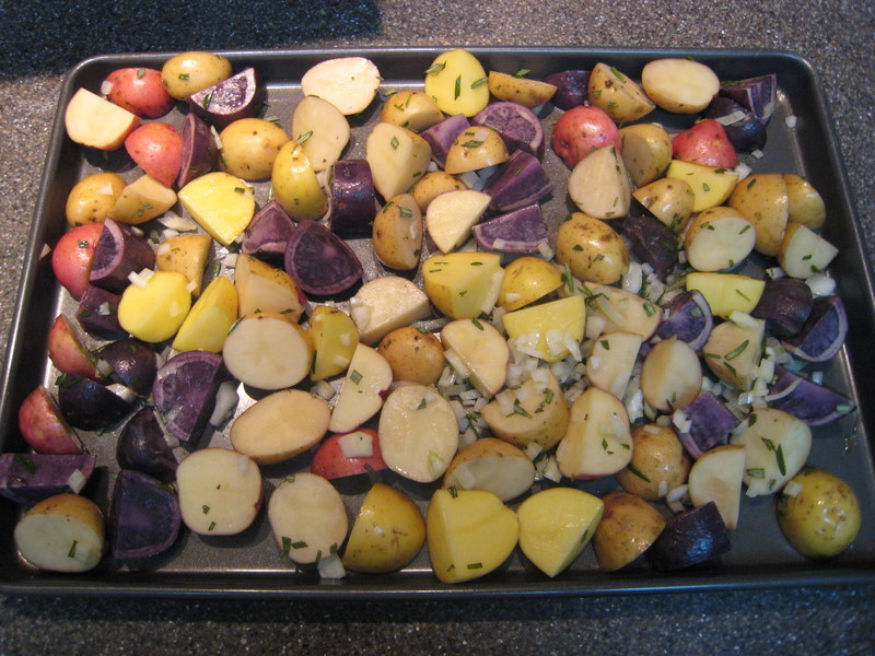 ... Dinner Tonight: Turkey Meatloaf and Roasted Rosemary Potatoes