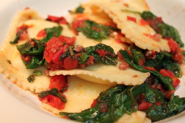 how to cook fresh ravioli in a pan