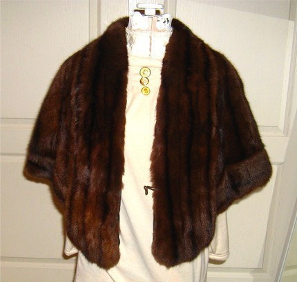 vintage fur cape coat etsy