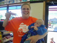My mom  with Brayden