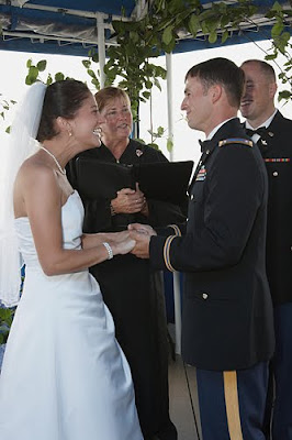 Coast Guard House wedding ceremony