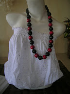 Necklace Black Red 1