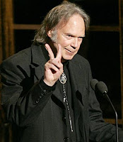 2007 photo of Young giving the peace sign