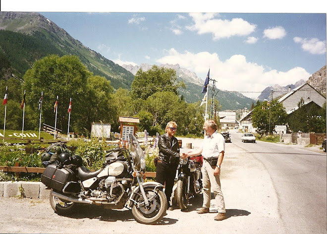 Farewell to Andy and the repaired Triumph