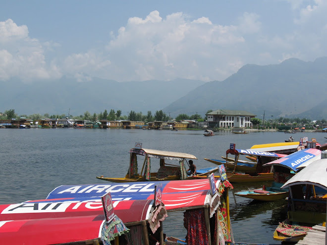 House Boats on the Lake at Srinagar.