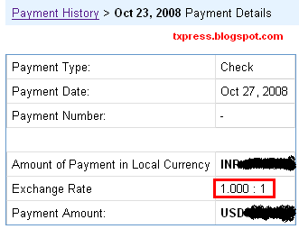 Adsense Payment Details Screenshot of Tech_Xpress