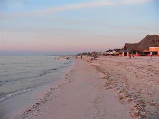 Paysages du Mexique - Celestun - plage