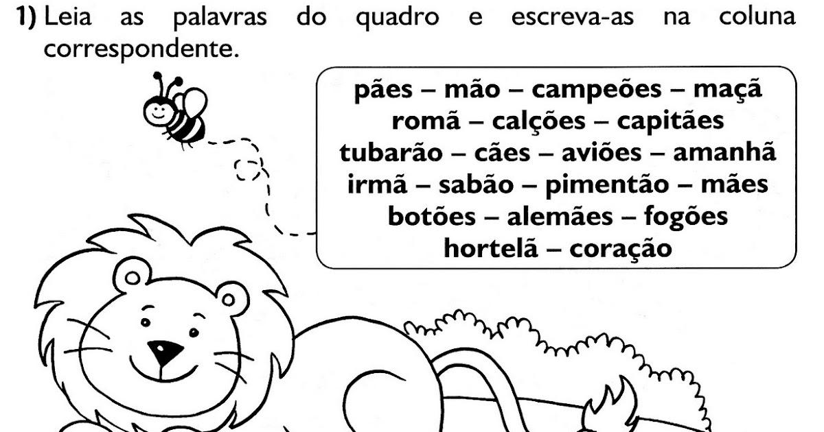 Blog da prof katia ortografia sons nasais for H s bains sons
