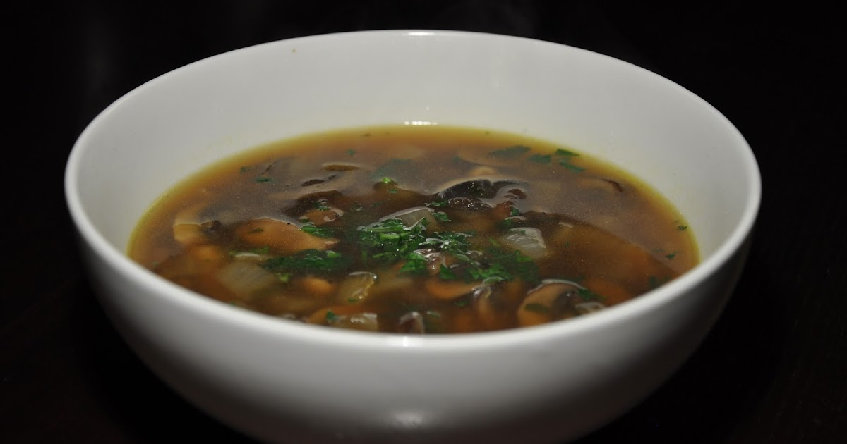 Slice of Rice: Wild Mushroom Soup with Thyme and Parsley
