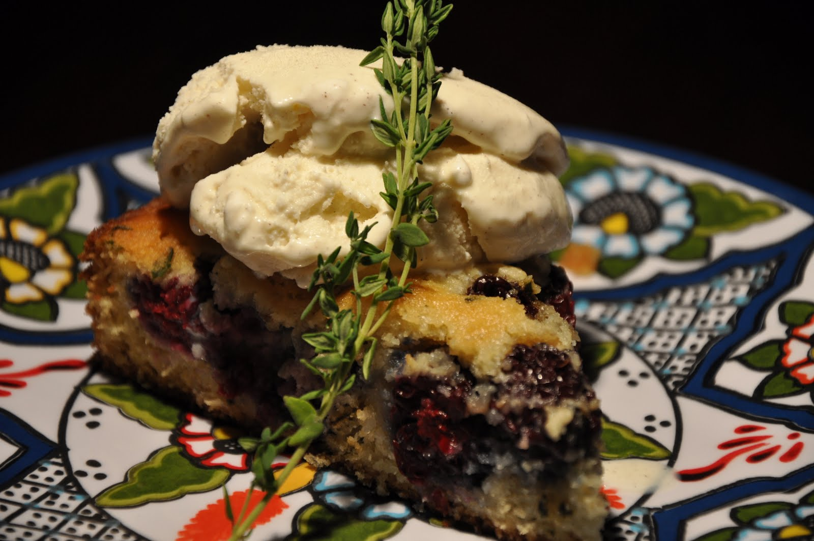 Slice of Rice: Blackberry and Thyme Buttermilk Cake