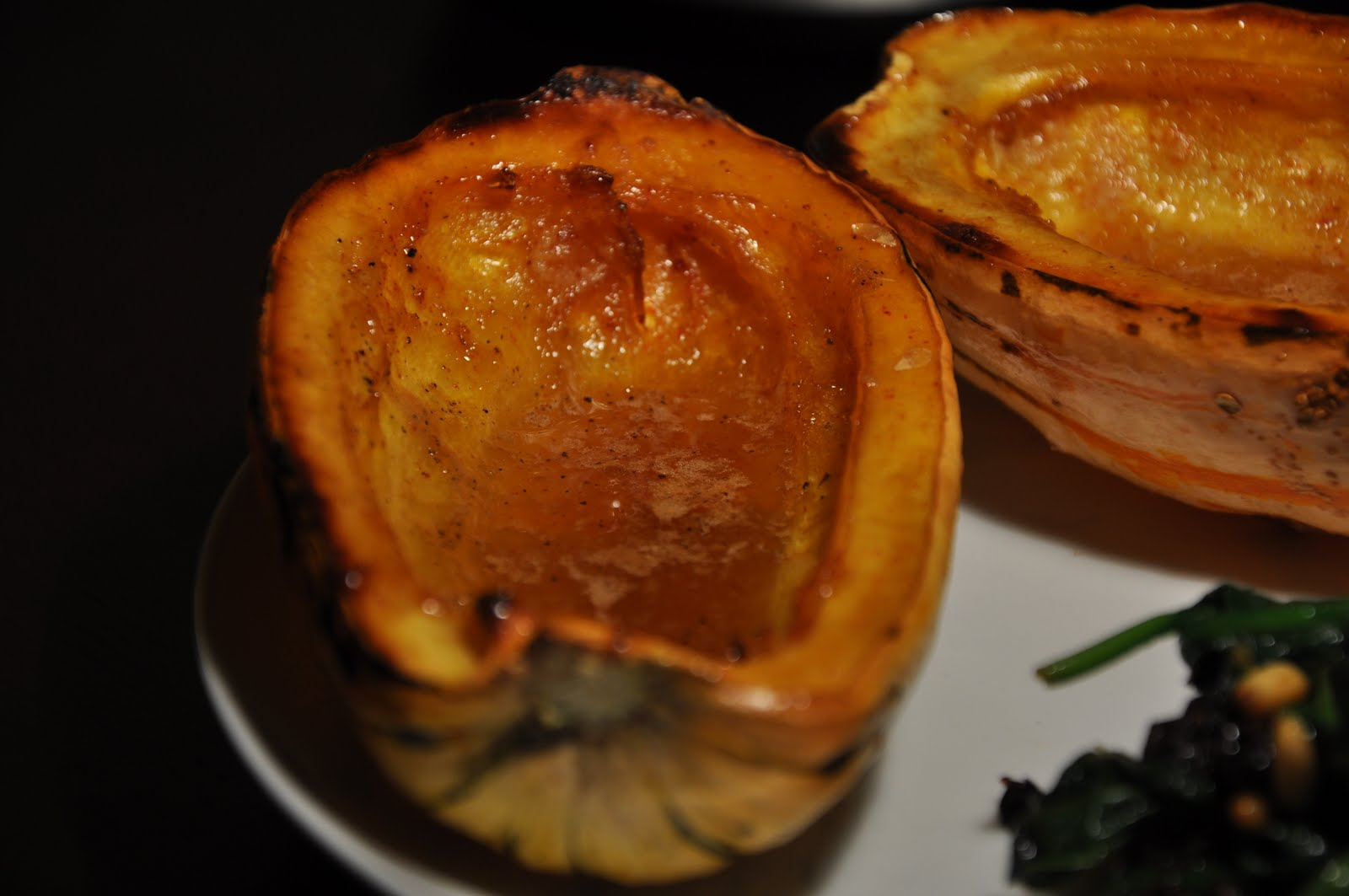 Slice of Rice: Maple-Roasted Delicata Squash and Spinach Catalan-Style