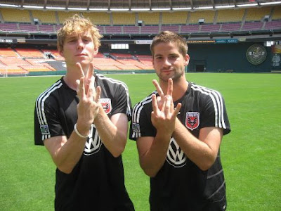 DC United players make the VW gang sign
