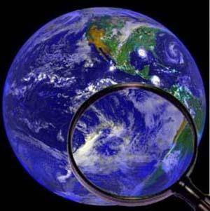 Earth under a magnifying glass