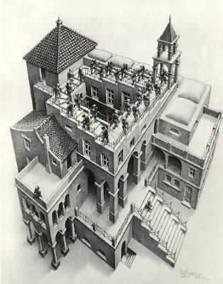 ASCENDING by MC Escher