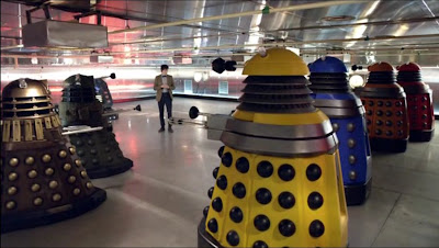 The new Daleks confront the Doctor