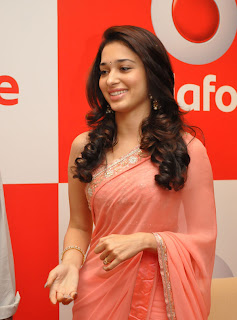 Tamanna In Pink Saree Photos