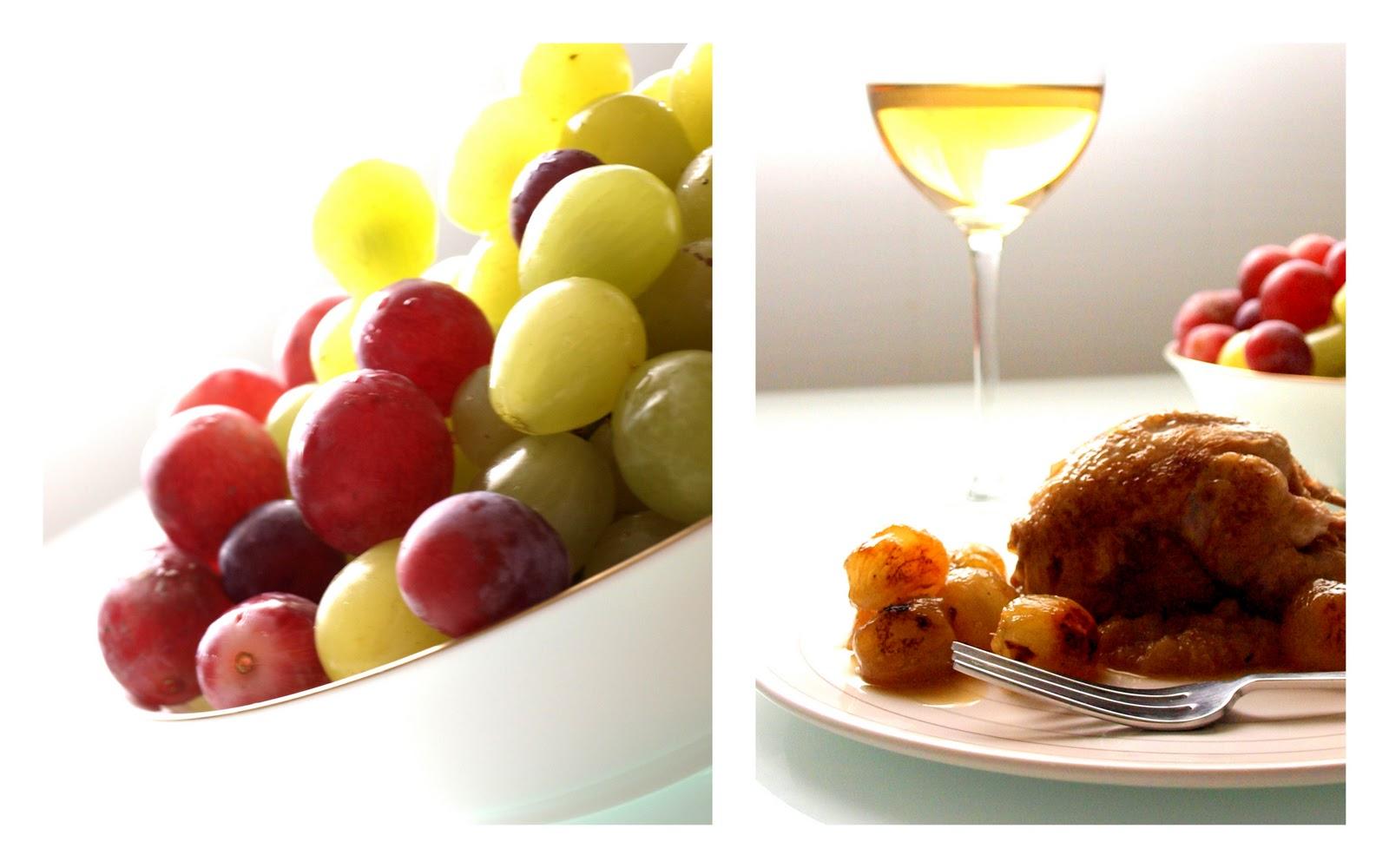 Perdices con uvas