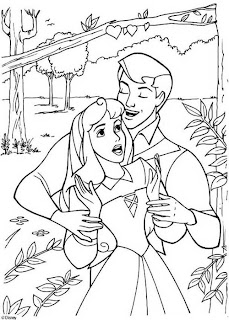 Princess Aurora With Prince Philip coloring pages