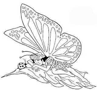 Free fairy butterfly coloring pages butterfly coloring pages for Butterfly fairy coloring pages