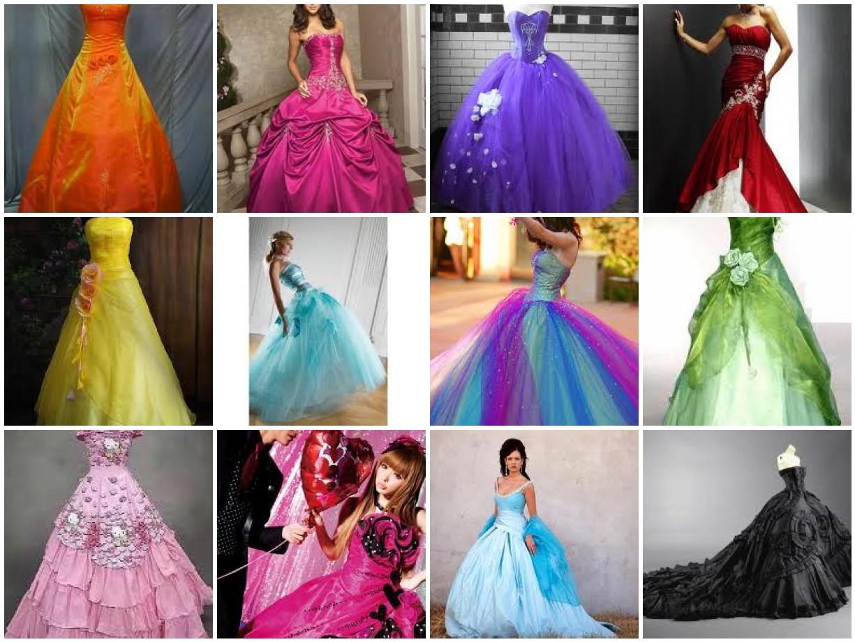 Свадебные платья цветные и цены 5