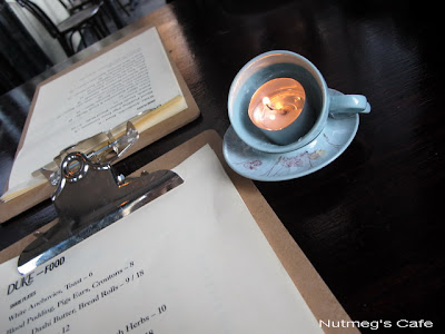 Nutmegs Cafe Menu