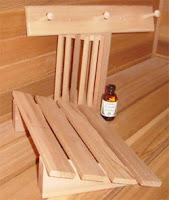 towel rack sauna