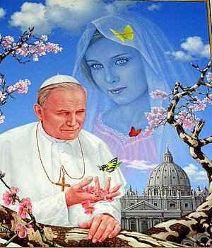 """""""Kochajcie Maryję, bo to Matka wasza, a wy Jej dzieci.""""                             Jan Paweł II"""
