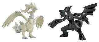 Pokemon Figure Plamo Reshiram Zekrom Normal ver. Set Bandai