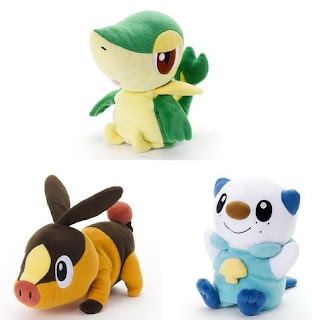Pokemon Plush Full Body Puppet Snivy Tepig Oshawott TTA