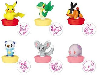Pokemon Figure Mascot Stamp BW Pikachu Snivy Tepig Oshawott Munna Minccino TTA