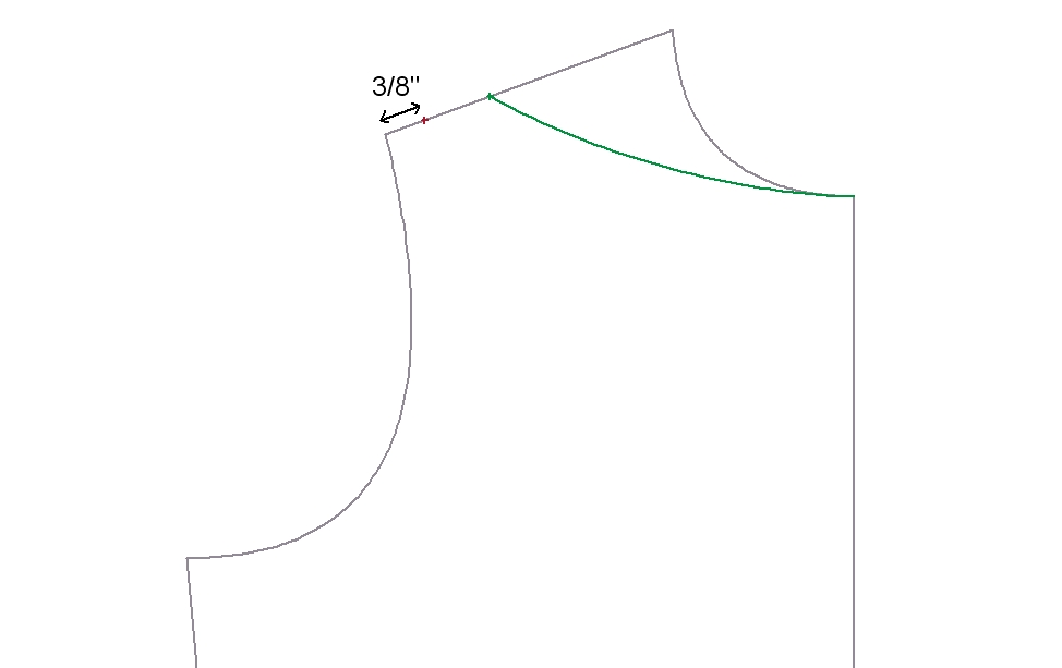Neckline Drawing : The measuring tape drafting part iv necklines facings