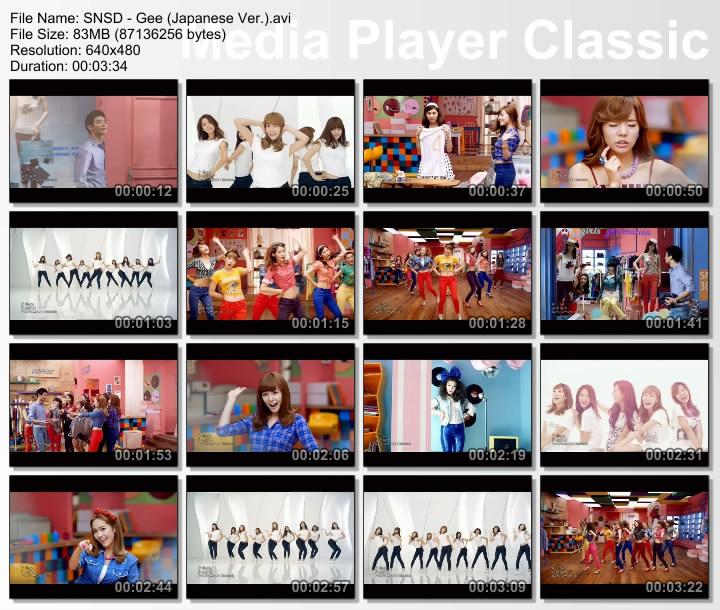 01 Gee [Original ver.] 02 Gee [Dance ver.] MV Gee (Japan Version)