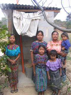 Family with new latrine
