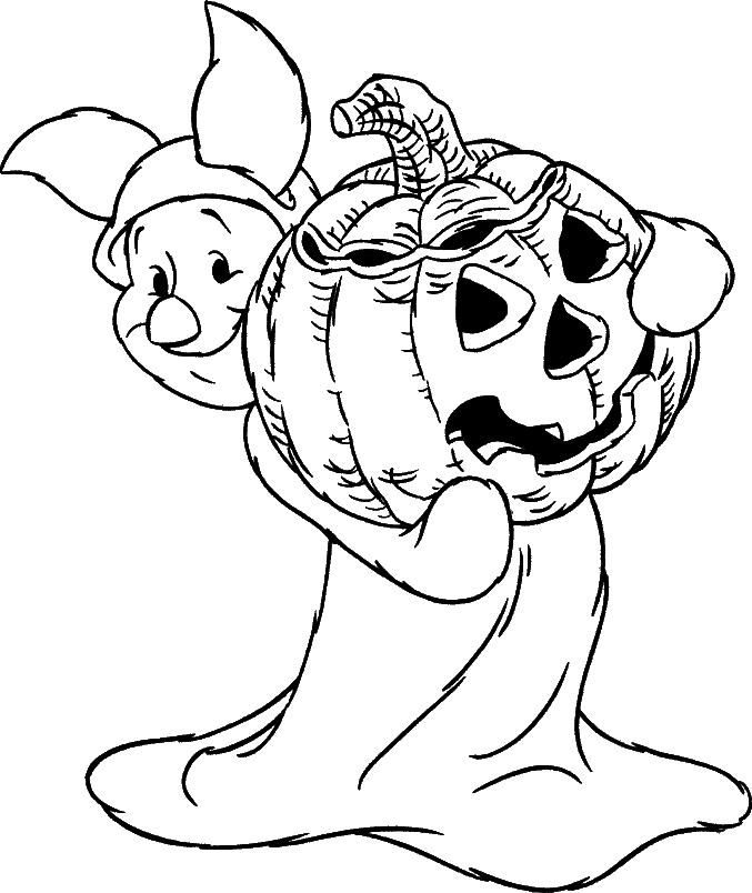 24 free halloween coloring pages for kids for Halloween print out coloring pages