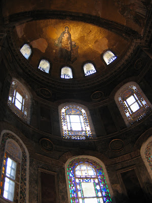 Above the main altar at Hagia Sophia