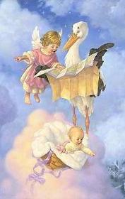 Gracias  angelita por indicarle nuestra direccion a la cigueña