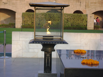 Gandhi Memorial Flame, Delhi, India
